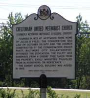 Marker for Cheltenham Methodist Church